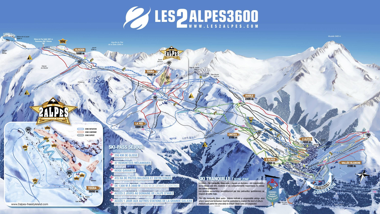 Pistenplan les 2 alpes for Hotels 2 alpes