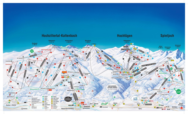 Pistenplan Kaltenbach Hochzillertal Hochfugen Ski Optimal